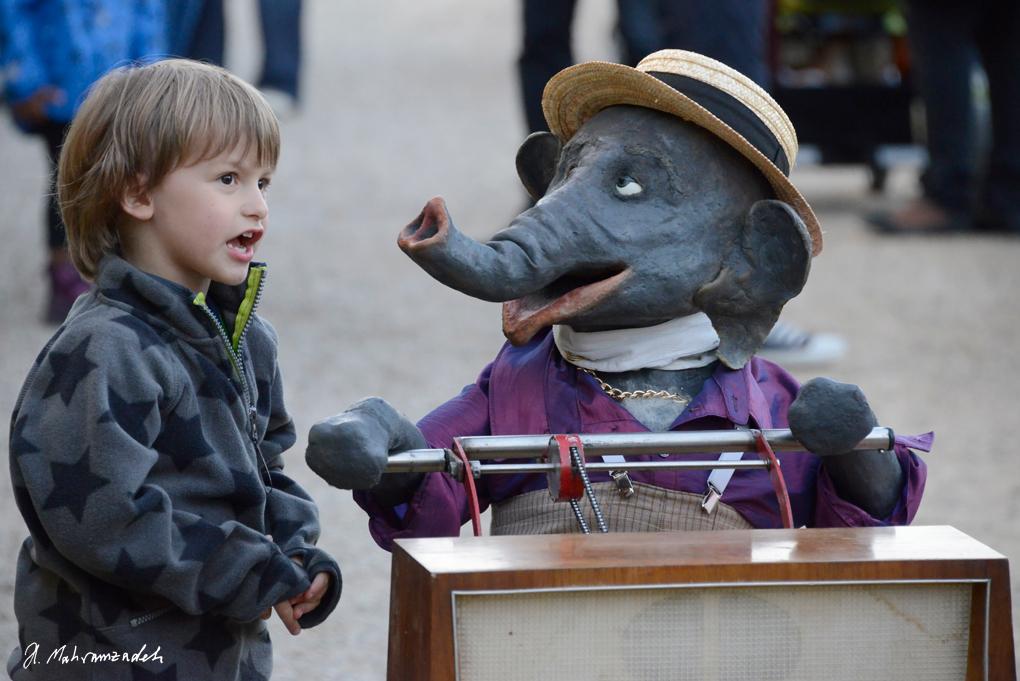 Jochen, der Elefant und Hochseilartisten